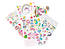 Big Ben CD60UNICORNSTICK paars FM radio CD speler met 300 Unicorn stickers