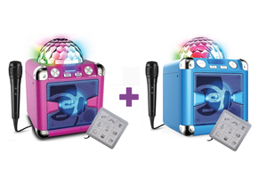 iDance Audio BC5L Roze + Blauw partybox sing cube DUO Pack