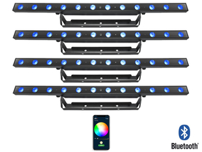 Chauvet DJ 4x 30W RGB LED BAR 3-in-1 wash effect met Bluetooth bediening