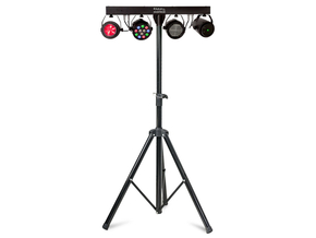 Ibiza Light DJLIGHT85LED licht standaard Parspot, Strobo, Moonflower en Laser