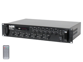 Clever Acoustics MA 240Z6 6 zone paging 100V mixer versterker bluetooth USB/SD 240W