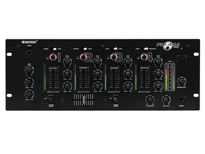 Omnitronic PM-444USB 4 kanaals DJ mixer met USB interface