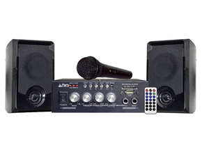 Party Sound KA100 bluetooth karaoke set met USB/SD speler