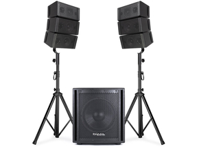 Ibiza Sound CUBE15A-ARRAY 2.1 PA bluetooth line array subwoofer set 800W