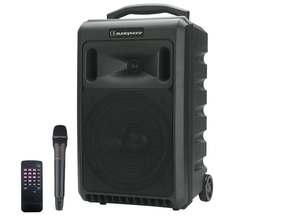 Audiophony SPRINTER122 portable bluetooth speaker met USB/SD/CD en 2 UHF mics