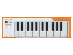 Arturia Microlab MIDI keyboard controller Orange