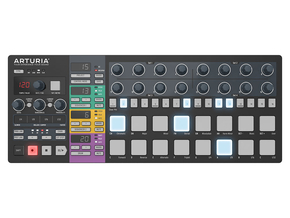 Arturia Beatstep Pro Black Edition MIDI controller met sequencer en drumpads